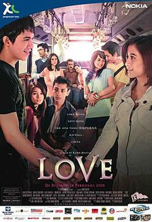 Love (2008 Indonesian film) - Image: Love 2008 film poster
