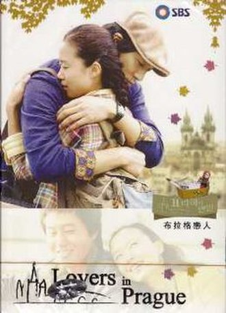 Lovers in Prague - Promotional poster