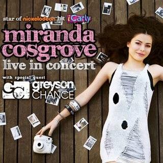 Dancing Crazy Tour Miranda Cosgrove tour