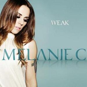 Weak (Melanie C song) - Image: Melanie C Weak Single Cover