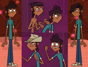 Total Drama All-Stars and Pahkitew Island - A brief visual of Mike (on the left), four of his different personalities (in the middle), and Mal (on the right). Mike is the only male character in the series to have multiple animated versions in one body.