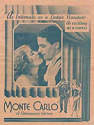 Monte Carlo (1930 film) - theatrical poster