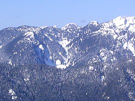 A view of the North Shore Mountains