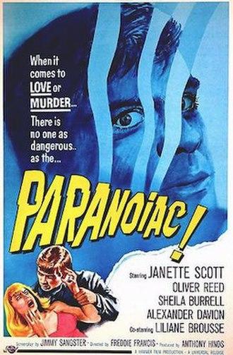 Paranoiac (film) - Image: Paranoiac movie poster