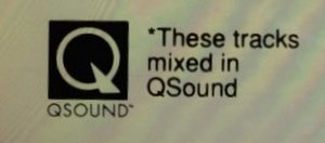 QSound - QSound logo as shown on Paula Abdul's Spellbound album CD.