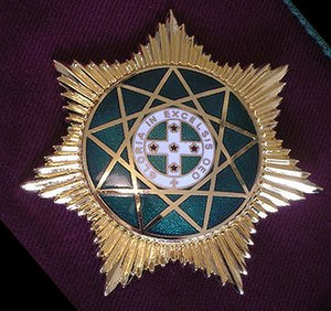 Royal Order of Scotland - Breast Star of a member of the Royal Order of Scotland.