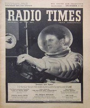 Journey into Space - Journey Into Space featured on the cover of the Radio Times.
