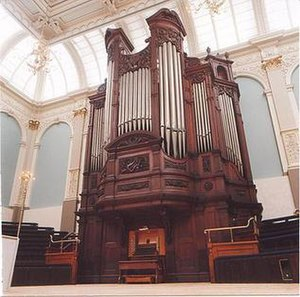 Reading Town Hall - The Organ, originally built by Father Willis