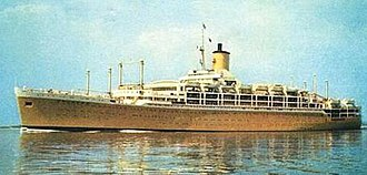 SS Orcades (1947) - Image: SS Orcades (1948) taken in 1959 in yellow livery