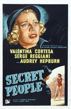 Secret People (film) - Original UK poster