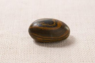 Seer stone (Latter Day Saints) - Members of the Church of Jesus Christ of Latter-day Saints believe that Joseph Smith used this seer stone in the Book of Mormon translation effort.