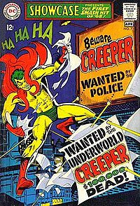 The Creeper leaping