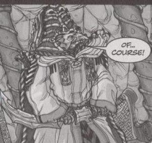 Skeksis - The General skekVar, as seen in Legends of the Dark Crystal Vol. 1: The Garthim Wars
