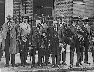 1926 United Kingdom general strike - Special Committee of the General Council of the Trades Union Congress at Downing Street, ready to discuss the mining crisis with Baldwin