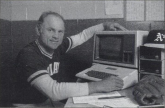 Steve Boros - Boros and his Apple II in 1983