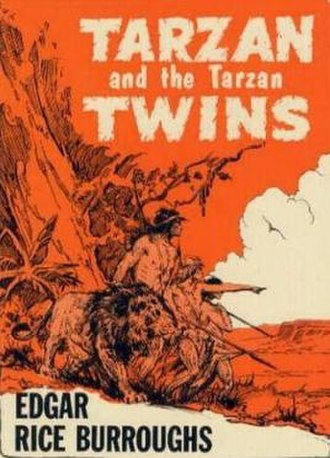 Tarzan and the Tarzan Twins - Dust-jacket illustration of Tarzan and the Tarzan Twins