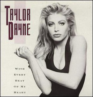 With Every Beat of My Heart - Image: Taylor Dayne – With Every Beat of My Heart (single cover)