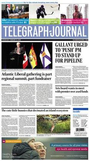 Telegraph-Journal - Image: Telegraph Journal Cover