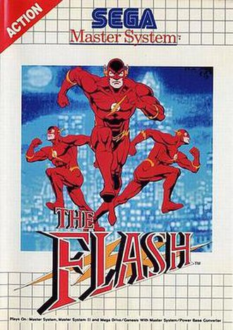 The Flash (video game) - Cover art (Sega Master System)