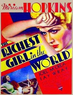 <i>The Richest Girl in the World</i> (1934 film) 1934 film by William A. Seiter