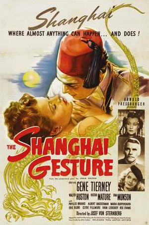 The Shanghai Gesture - Theatrical release poster