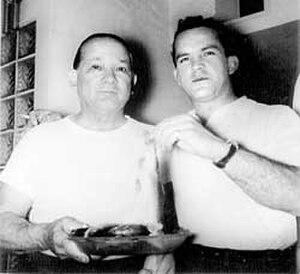 Arthur Van Haren Jr. - Van Haren Jr. (right) with his father, Van Haren Sr.