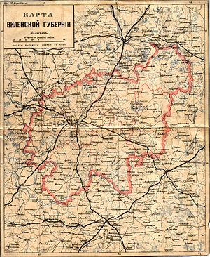 Vilna Governorate - Vilna Governorate in 1897