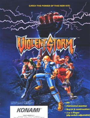 Violent Storm - U.S. arcade flyer of Violent Storm.
