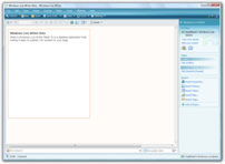 Windows Live Writer Beta running under Windows Vista.