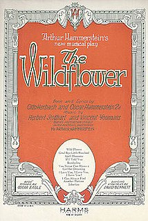 <i>Wildflower</i> (musical) musical play first opened in 1923