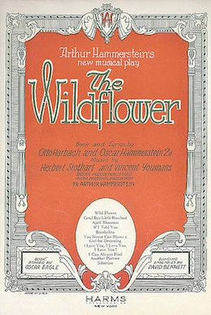 Wildflower (musical) - Sheet Music Cover