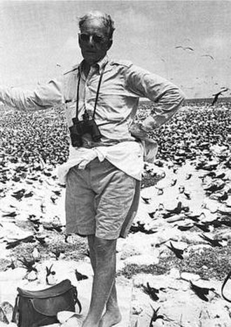 William H. Phelps Sr. - William Henry Phelps at the Isla de Aves in 1954
