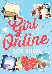 Cover for the first edition of Girl Online, by Zoe Sugg.