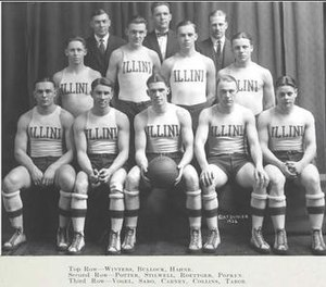 1921–22 Illinois Fighting Illini men's basketball team - Image: 1921 22 Fighting Illini men's basketball team