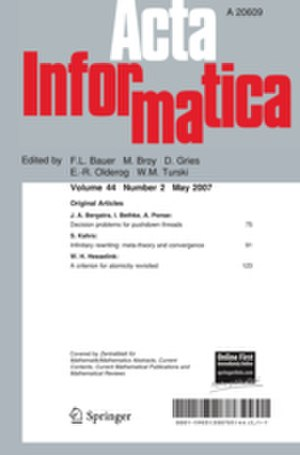 Acta Informatica - Image: Acta Informatica