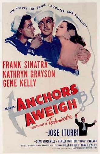 Anchors Aweigh (film) - Original poster for the picture