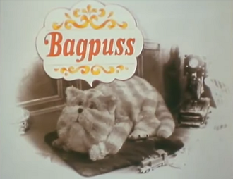 Bagpuss - The opening sequence of Bagpuss features a series of sepia toned photographs, which suggest the Victorian or Edwardian period.