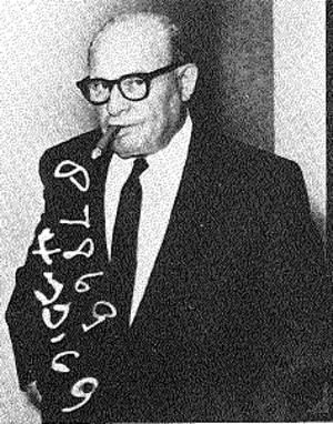 Frank Bompensiero - Frank Bompensiero in an FBI picture (with file markings) taken in Palm Springs.