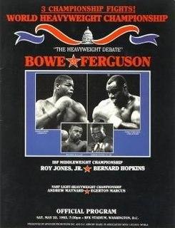 Riddick Bowe vs. Jesse Ferguson Boxing competition