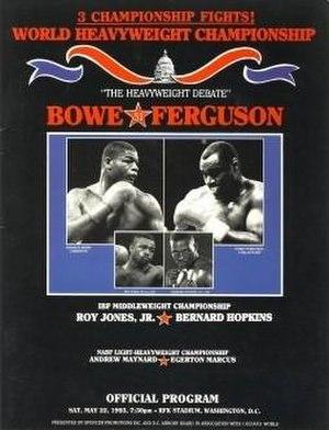Riddick Bowe vs. Jesse Ferguson - Image: Bowe vs Ferguson