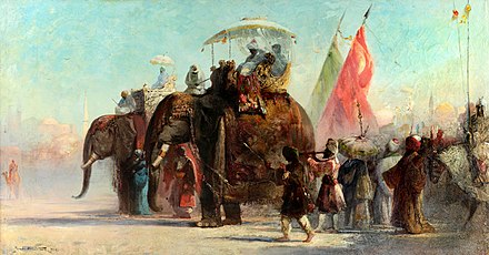 Douglas Arthur Teed -- Parade led by Elephants