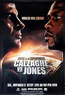 Joe Calzaghe vs. Roy Jones Jr. Boxing competition