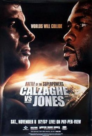 Joe Calzaghe vs. Roy Jones Jr. - Image: Calzaghe jones poster