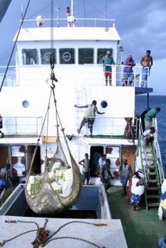 Carteret Islands - Food relief being delivered in 2007