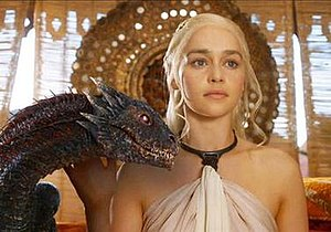 Daenerys Targaryen - Emilia Clarke as Daenerys Targaryen in the television adaptation Game of Thrones