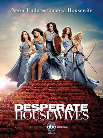 Desperate Housewives (season 6) - ABC promotional poster for the sixth season of Desperate Housewives. From left to right: Bree, Gabrielle, Susan, Katherine, and Lynette.