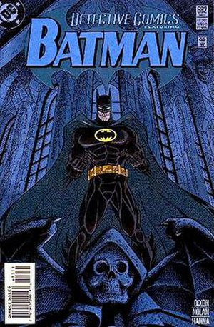 "Batman: Knightfall - Batman's costume's debut during ""Troika."""