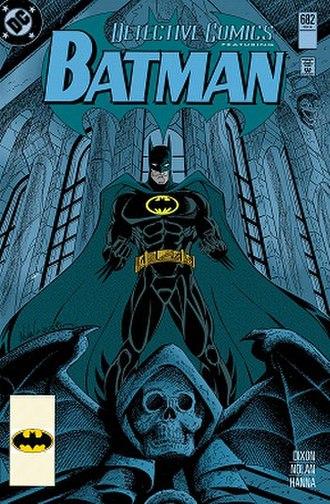 "Batman: Knightfall - Batman's costume's debut during ""Troika."""