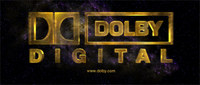 Dolby Digital logo that is sometimes shown on DVDs before the feature film starts