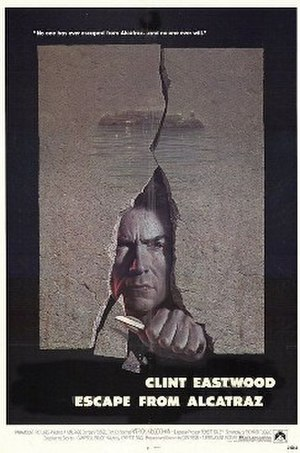 Escape from Alcatraz (film) - Movie poster by Bill Gold
